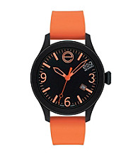 ESQ Movado® One™ Orange/Black Silicone Wrapped Stainless Steel Watch