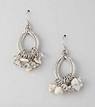 Laura Ashley® Neutral/Silvertone Shaky Drop Earrings