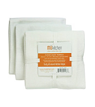 Mükitchen White Flour Sack 3-pk. Towel Set