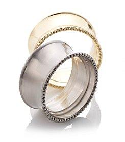 LivingQuarters Beaded Elegance Napkin Ring