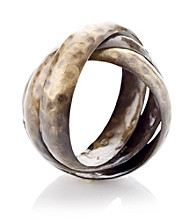 LivingQuarters Hammered Bands Napkin Ring
