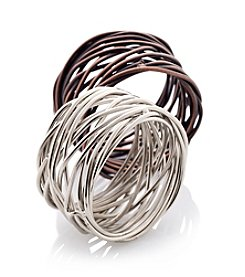 LivingQuarters Twisted Wire Napkin Ring