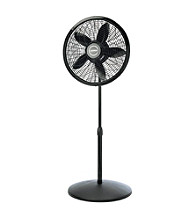 Lasko® 3-Speed Black Adjustable Oscillating Pedestal Fan