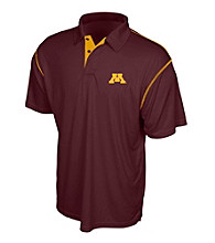 J. America® Men's Maroon University of Minnesota Contrast Stitch Performance Polo
