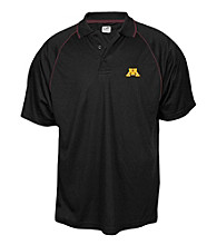 J. America® Men's Black University of Minnesota Contrast Mesh Performance Polo