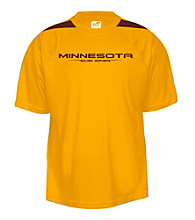 J. America® Men's Gold University of Minnesota Mesh Performance Tee with Sleeve Panels