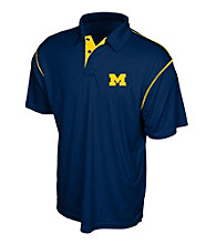 J. America® Men's Navy University of Michigan Contrast Stitch Performance Polo