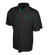 . America® Men's Black Michigan State University Contrast Stitch Performance Polo
