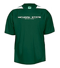 J. America® Men's Forest Green Michigan State Mesh Performance Polo
