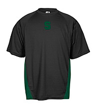 J. America® Men's Black Michigan State Mesh Performance Tee