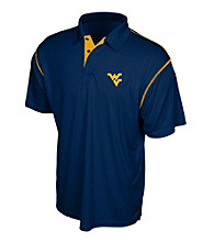 J. America® Men's Navy West Virginia Constrast Stitch Performance Polo