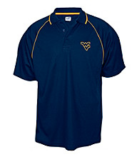 J. America® Men's Navy West Virginia Contrast Mesh Performance Polo