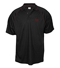 J. America® Men's Black University of Montana Contrast Mesh Performance Polo