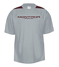 J. America® Men's Graphite University of Montana Mesh Performance Tee with Sleeve Panels