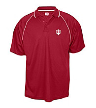 J. America® Men's Cardinal Indiana University Contrast Mesh Performance Polo