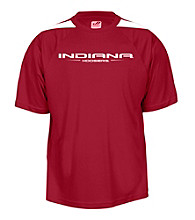 J. America® Men's Cardinal Indiana University Mesh Performance Tee with Sleeve Panels