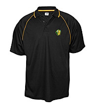 J. America® Men's Black North Dakota State University Mesh Contrast Performance Polo