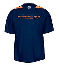 J. America® Men's Navy Syracuse Mesh Performance Tee with Sleeve Panels