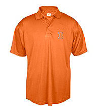 J. America® Men's Orange University of Illinois Solid Performance Polo