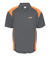 J. America® Men's Graphite University of Illinois Mesh with Interlock Panel Performance Polo