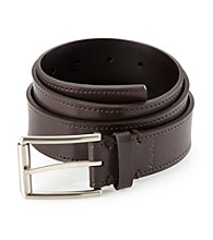 Calvin Klein Men's Brown 35 MM Flat Strap Genuine Leather Belt
