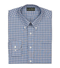 Lauren® Men's Blue/Red Classic-Fit Checked Cotton Broadcloth Shirt