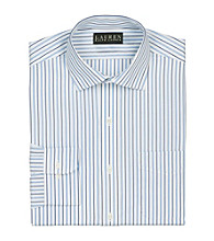 Lauren® Men's White Classic-Fit Striped Spread-Collar Shirt