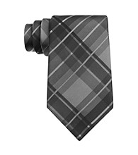 Kenneth Cole REACTION® Men's Charcoal Monroe Grid Silk Tie