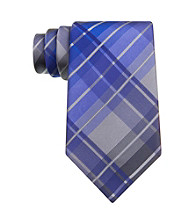 Kenneth Cole REACTION® Men's Teal Monroe Grid Silk Tie