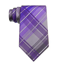 Kenneth Cole REACTION® Men's Purple Monroe Grid Silk Tie