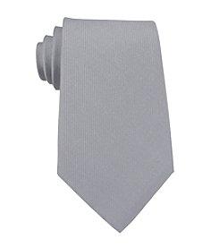 Kenneth Cole REACTION® Men's Silver Darien Solid Silk Tie