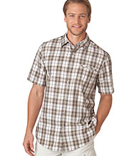 Chaps® Men's Swamp Green Explorer Camden Plaid Woven Shirt