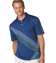 Chaps® Men's Estate Blue Short Sleeve Clubhouse Printed Golf Polo