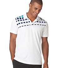 Chaps® Men's White Short Sleeve Sand Trap Print Golf Polo