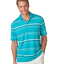 Chaps® Men's Teal Wave Coastal Stripe Golf Polo