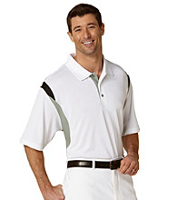PGA TOUR® Men's Bright White Three Color Stacked Polo