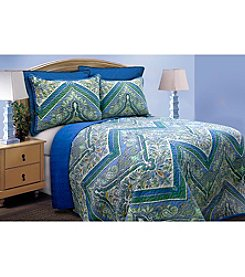 Tangiers Blue Quilt Collection by  Scent-Sation, Inc.