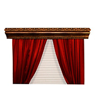 BCL Drapery Hardware Marion Double Curtain Rod Cornice