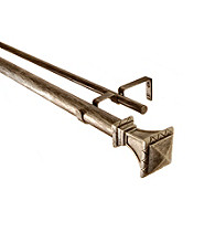 BCL Drapery Hardware Trumpeted Square Double Curtain Rod