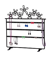 Mele & Co. Flora Metal Daisies Jewelry Stand in Black
