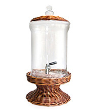 Fifth Avenue Crystal Ltd.® Glass Beverage Dispenser with Willow Base and Lid