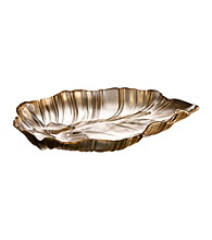 Fifth Avenue Crystal Ltd.® Venezia Gold Leaf Platter