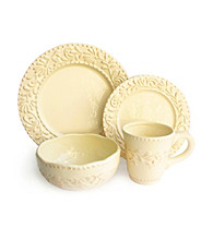 American Ateliers Bianca Leaf Cream 16-pc. Dinnerware Set