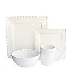 American Ateliers Bianca Bead Square 16-pc. Dinnerware Set