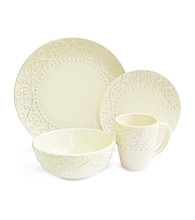 American Ateliers Bianca Cream 16-pc. Dinnerware Set