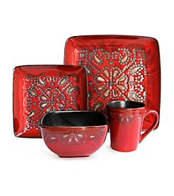 American Ateliers Marquee Red 16-pc. Dinnerware Set