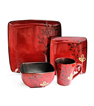 American Ateliers Elise Red 16-pc. Dinnerware Set