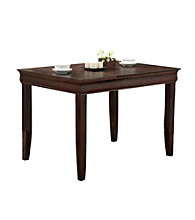 W.Designs Ashlyn Espresso Wood 48 in. Contemporary Dining Table