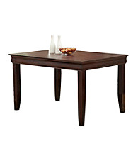 W.Designs Ashlyn Espresso Wood 60 in. Contemporary Dining Table