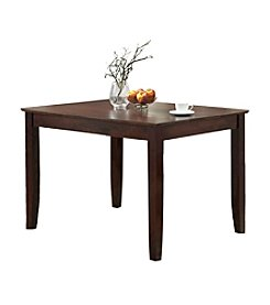 W.Designs Abigail Espresso Wood 48 in. Traditional Dining Table